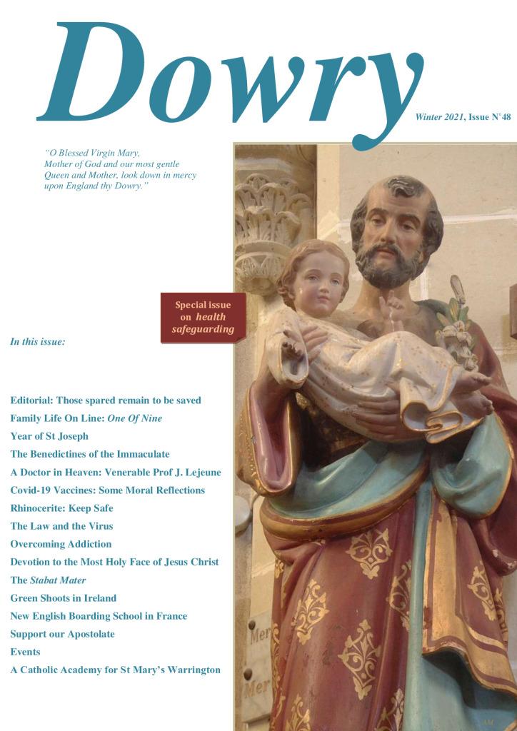 Dowry Magazine No48 Winter 2021 edition FSSP Catholic
