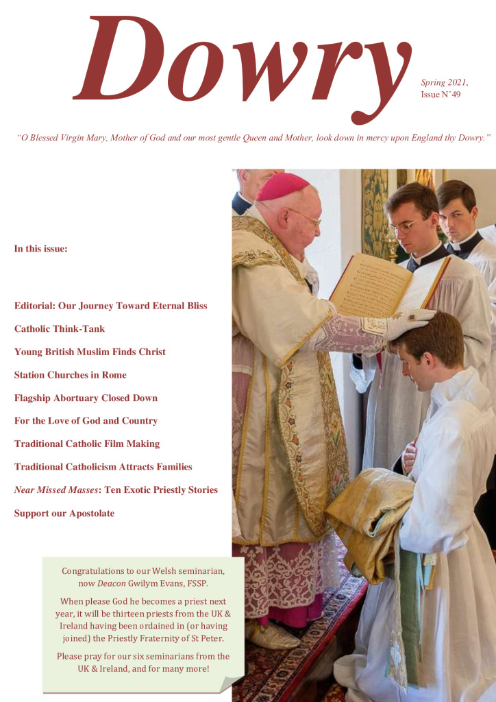 Dowry Magazine No49 FSSP Catholic